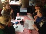 Grupparbetet gav många konkreta tips på förbättringar av hemsidan.